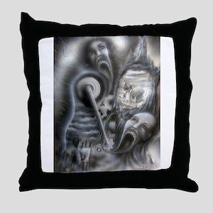 Il Morte A Macchina Throw Pillow
