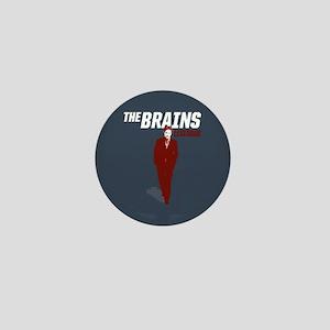Leverage Brains Mini Button