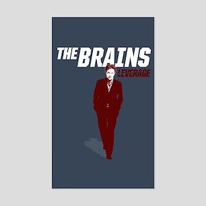 Leverage Brains Sticker (Rectangle)