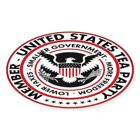 US Tea Party Sticker (Oval)