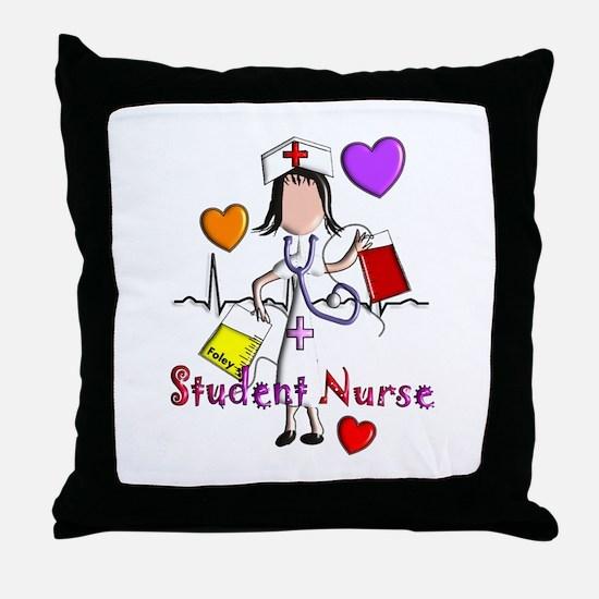 Student Nurse X Throw Pillow