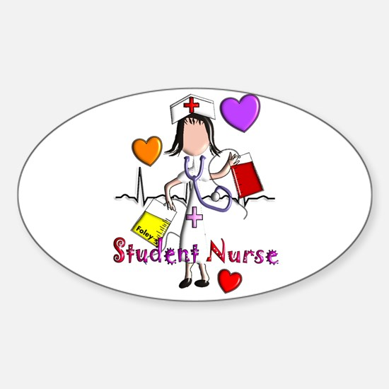 Student Nurse X Sticker (Oval)