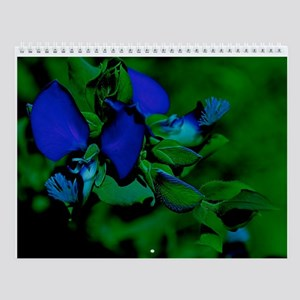 Blue Flower Wall Calendar