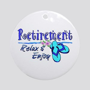 Relax & Enjoy Ornament (Round)