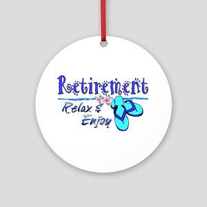 Relax & Enjoy Ornament (Round)