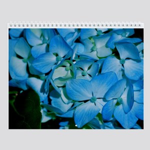 Blue Green Pedals Wall Calendar