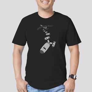 Dropping F Bombs Men's Fitted T-Shirt (dark)