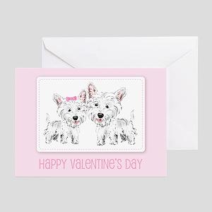 Westie Valentine Greeting Cards (Pk of 10)