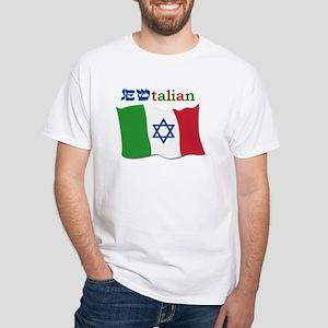 Jewtalian White T-Shirt