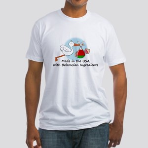 Stork Baby Belarus USA Fitted T-Shirt