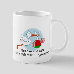 Stork Baby Belarus USA Mug