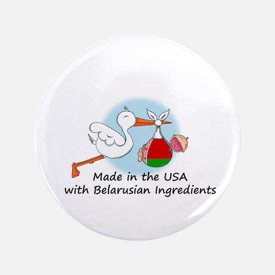 """Stork Baby Belarus USA 3.5"""" Button"""