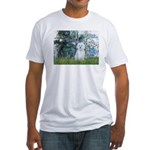 Lilies #1 - Maltese (B) Fitted T-Shirt