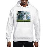 Lilies #1 - Maltese (B) Hooded Sweatshirt
