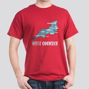 West Country Map Dark T-Shirt