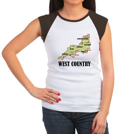 West Country Map Women's Cap Sleeve T-Shirt