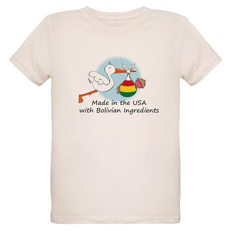 Stork Baby Bolivia USA Organic Kids T-Shirt