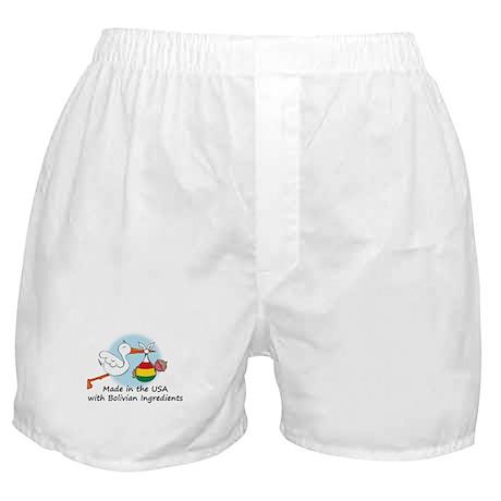Stork Baby Bolivia USA Boxer Shorts