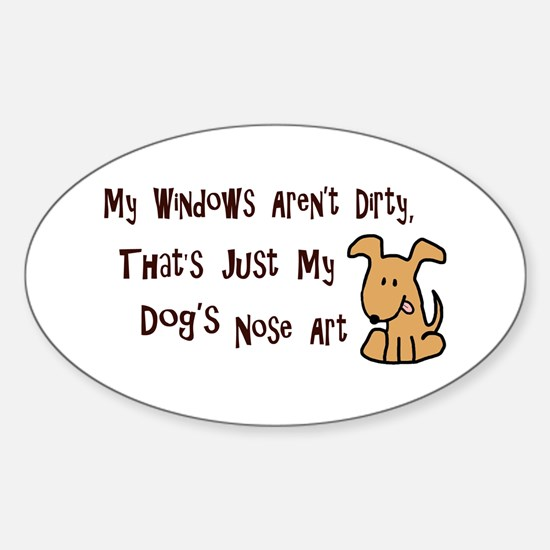 Nose Art Sticker (Oval)
