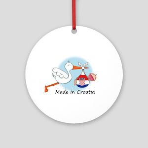 Stork Baby Croatia Ornament (Round)