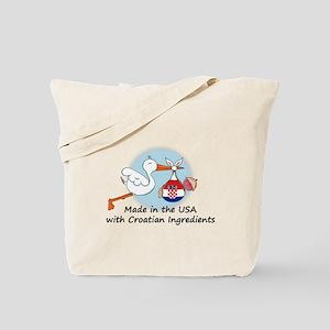 Stork Baby Croatia USA Tote Bag