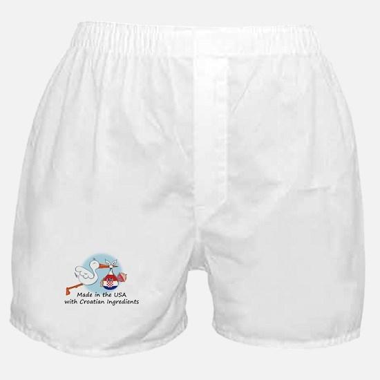 Stork Baby Croatia USA Boxer Shorts