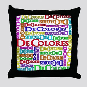 DeColores Throw Pillow
