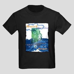 Kids Surf Rhode Island Dark T-Shirt