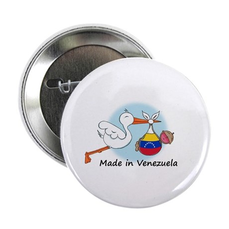 """Stork Baby Venezuela 2.25"""" Button"""
