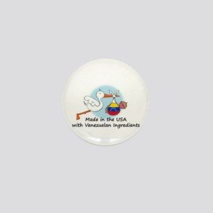 Stork Baby Venezuela USA Mini Button