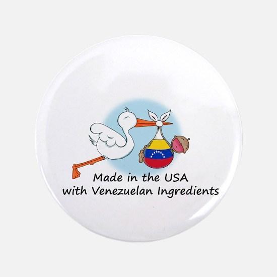 "Stork Baby Venezuela USA 3.5"" Button"