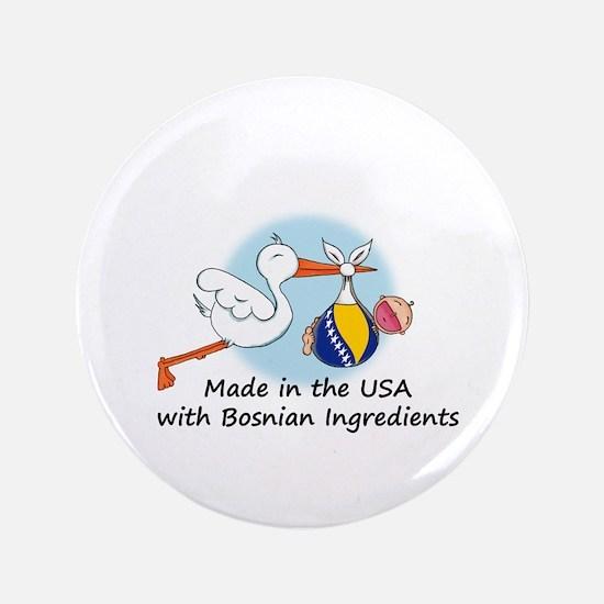 """Stork Baby Bosnia USA 3.5"""" Button"""