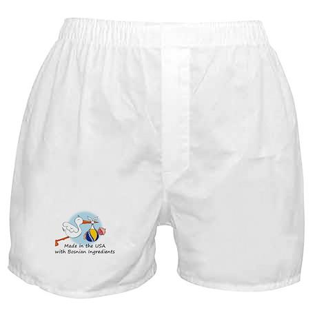Stork Baby Bosnia USA Boxer Shorts