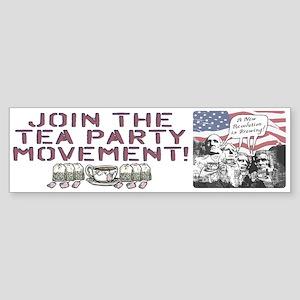 Tea Party Rushmore Sticker (Bumper)
