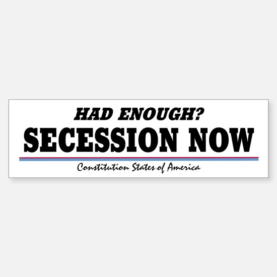 Secession Now! Sticker (Bumper)