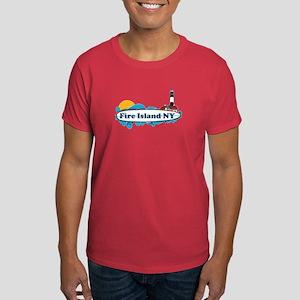 Fire Island NY - Surf Design Dark T-Shirt
