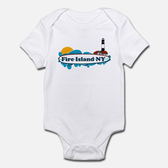 Fire Island NY - Surf Design Infant Bodysuit