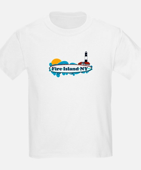 Fire Island NY - Surf Design T-Shirt