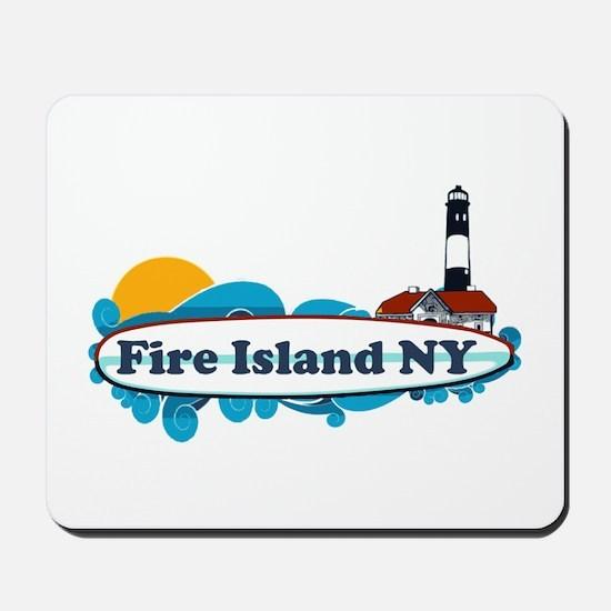 Fire Island NY - Surf Design Mousepad