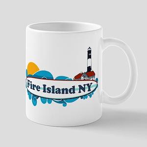 Fire Island NY - Surf Design Mug