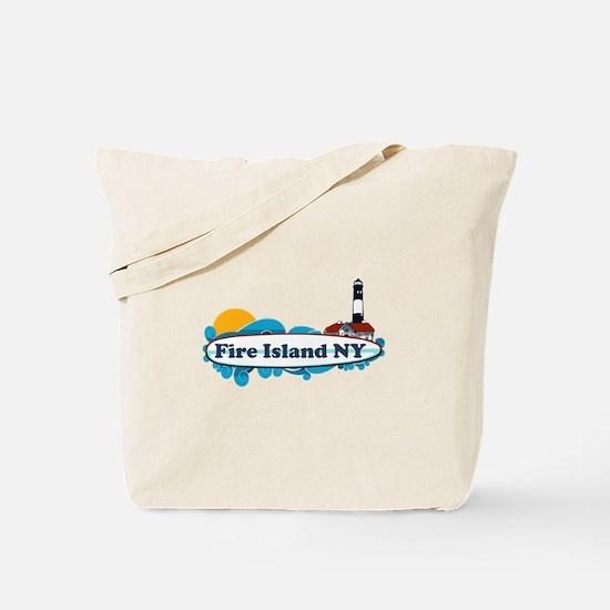 Fire Island NY - Surf Design Tote Bag