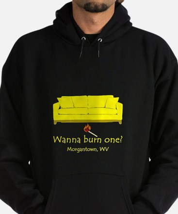 Wanna Burn One? Hoodie (dark)