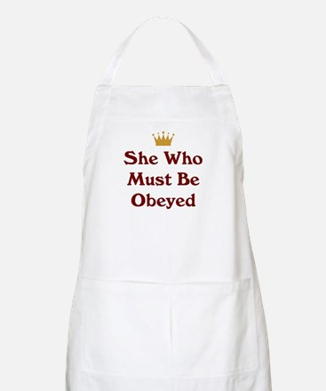She Who Must Be Obeyed Apron