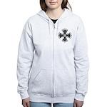 Elegant Iron Cross Women's Zip Hoodie