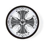 Elegant Iron Cross Wall Clock