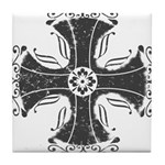 Elegant Iron Cross Tile Coaster
