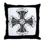 Elegant Iron Cross Throw Pillow