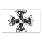 Elegant Iron Cross Sticker (Rectangle)