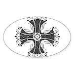 Elegant Iron Cross Sticker (Oval)