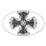 Elegant Iron Cross Sticker (Oval 10 pk)